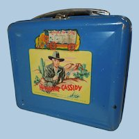 1950 Hopalong Cassidy Metal Lunch Box