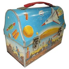 1960 Dome Top Space Lunch Box and Thermos