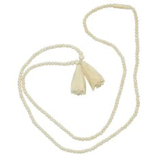 Victorian Carved Bone Necklace