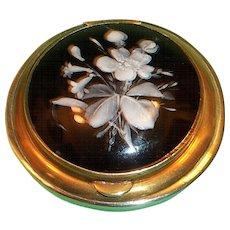 Victorian Pill Box Bohemian Glass
