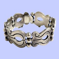 Vintage Sterling Silver Taxco Mexico Bracelet
