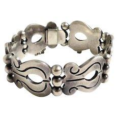 Vintage Sterling Silver Taxco Mexico Bracelet