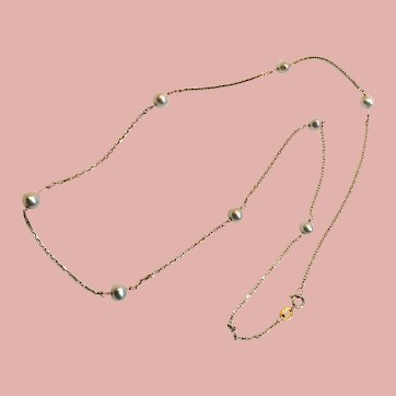 Vintage 14K Chain with Pearls