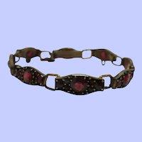 Extra Small Victorian Bohemian Garnet Bracelet