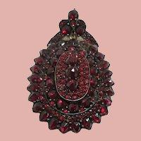 Victorian Bohemian Garnet Locket/Pendant/Brooch