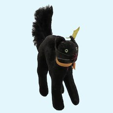 1950's-60's Steiff  Black Cat, Arched Back