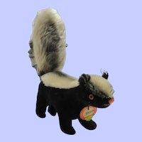 Vintage Velveteen and Mohair Steiff Skunk