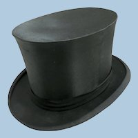 Early 1900 Silk Collapsible Top Hat