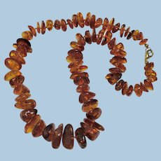 Hand Knotted Baltic Amber Necklace