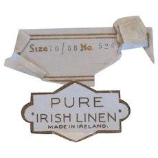 vintage Pure Irish Linen Tablecloth and 8 Napkins