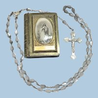 Vintage Rosary Box with Rosary