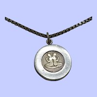 Sterling Silver and 14K Gemini Pendant Necklace/Charm
