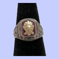 10K and Sterling Silver 1934 Class Ring Herff Jones
