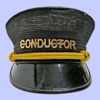 Vintage Railroad Conductor Hat