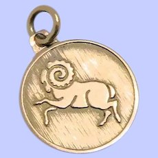 "9K Rose Gold Aries ""Ram"" Charm"