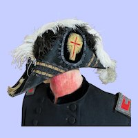 Later 1800's Fraternal Coat and Bi Corn Hat