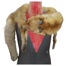 1920's - 30's Red Fox Shoulder Wrap/Stole