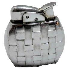 1950's Evans Woven Pattern Pocket Lighter