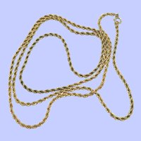 """14K Gold Filled Rope Chain 36"""""""