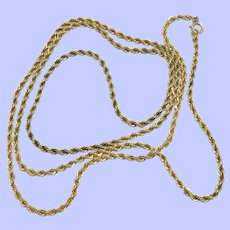 14K Gold Filled Rope Chain 36""