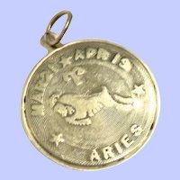Vintage 14K Aries the Ram Pendant/Charm