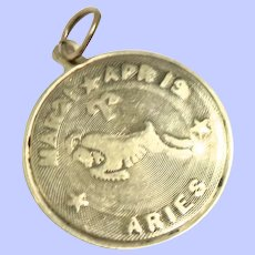 Vintage 14K Aries the Ram Pendant/Charm