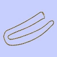 "14k Yellow Gold Rope Chain, 18"", 2.5 mm"