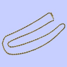 "14k Yellow Gold Rope Chain, 18"", 2.5 mm"