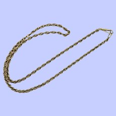 "14K Yellow Gold Loose Weave Rope Chain Necklace, 19 1/2"", 2.6 mm"