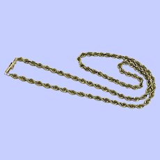 "14K Yellow Gold Rope Chain Necklace 16 1/2"", 3.8 mm"