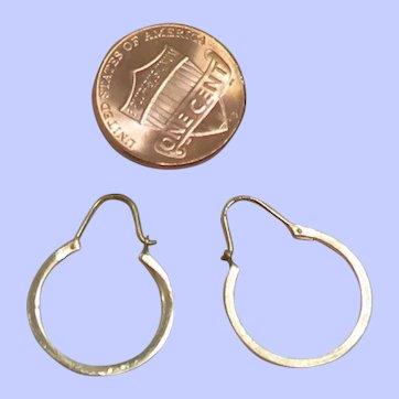 Vintage 14K Yellow Gold Hoop Earrings