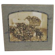 Large c1900 Funeral, Casket, Post Mortem Cabinet Card Photo