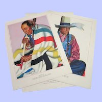 1940 Blackfeet Indians History and Prints Set
