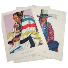 1940 Blackfeet Indians History and Prints Set