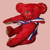Red Mohair Teddy Bear