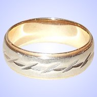 14K Yellow and White Gold Eternity Ring