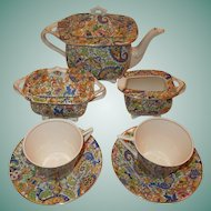 Swinnertons Hampton Ivory Paisley Chintz Tea Set