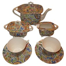 Swinnertons Hampton Ivory Paisley Chintz Tea Set