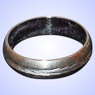 14K White Gold Eternity Band Ring Size 6