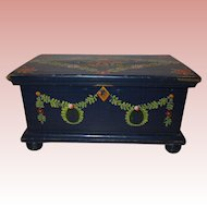 c. 1890 Miniature Hand Painted German Chest