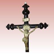 C. 1900 Tabletop Wooden Crucifix