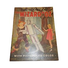 1939 The Story of the Wizard of Oz With Pictures to Color