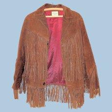 Vintage 1960's Suede Leather Fringed Jacket