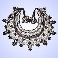 Vintage Large Beaded Collar