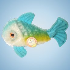 "Vintage Smallest Size Steiff ""Flossy"" Fish"