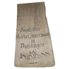 Antique European Grain Sack 1888