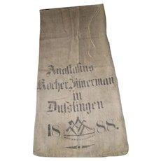 Antique European Grain Sack 1888
