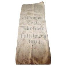 Antique European Grain Sack 1904