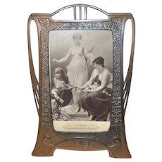 1890's Metal Art Nouveau Standing Frame