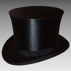 6ea27de1daf Antique Victorian - Edwardian Era Silk Top Hat